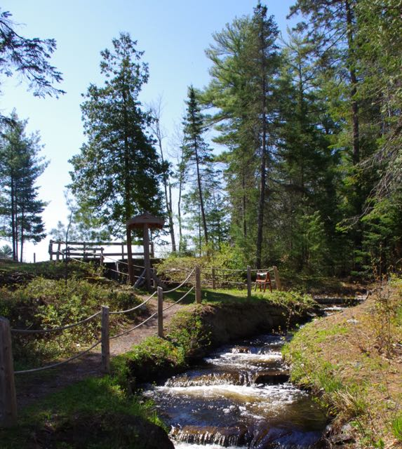Blackman Stream and pathway in Bradley, Maine