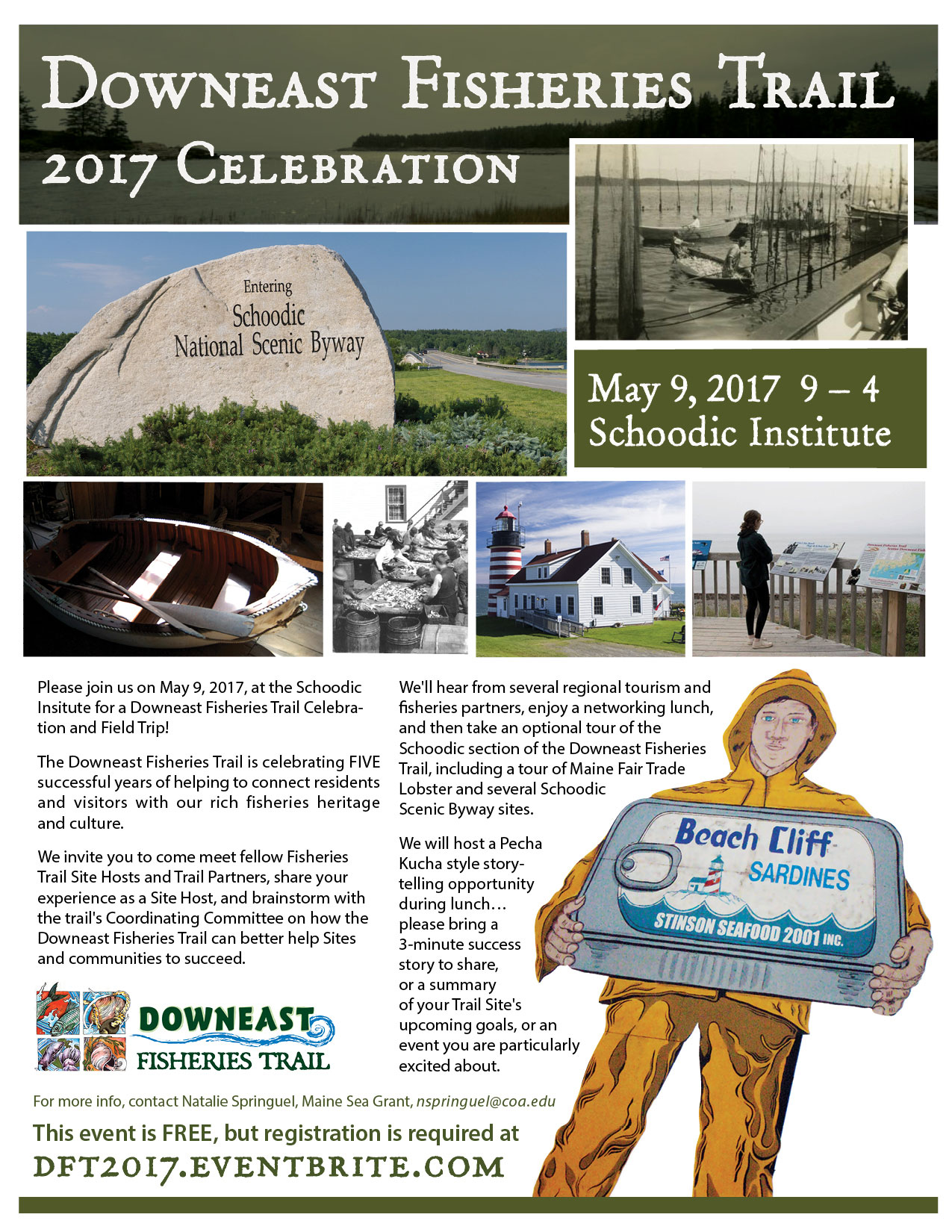 Downeast Fisheries Trail Celebration event flyer - click for PDF download