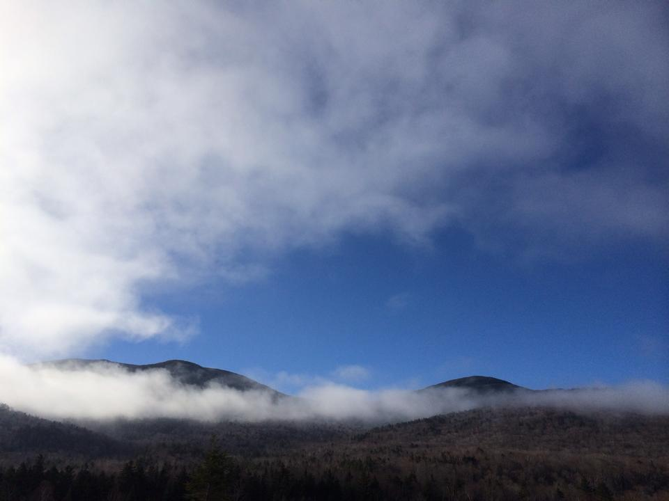 clouds and white mountains