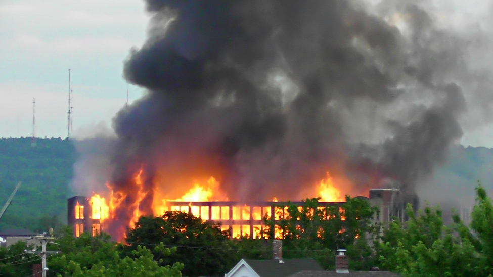 photo of a mill fire